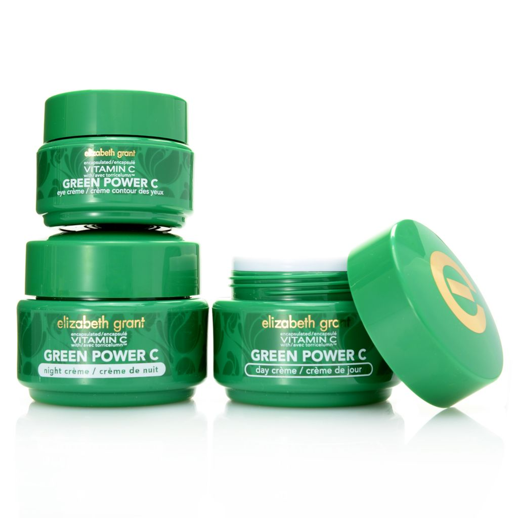 308-049 - Elizabeth Grant Three-Piece Vitamin C Green Power Day, Night & Eye Cream Collection