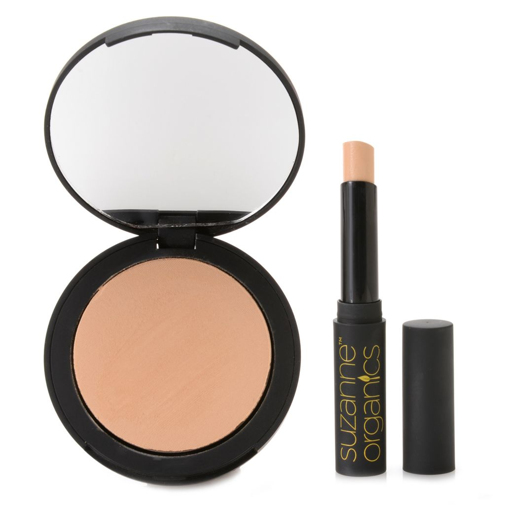 308-055 - Suzanne Somers Organics Brighten & Contour Eye Primer & Sheer Pressed Powder Duo