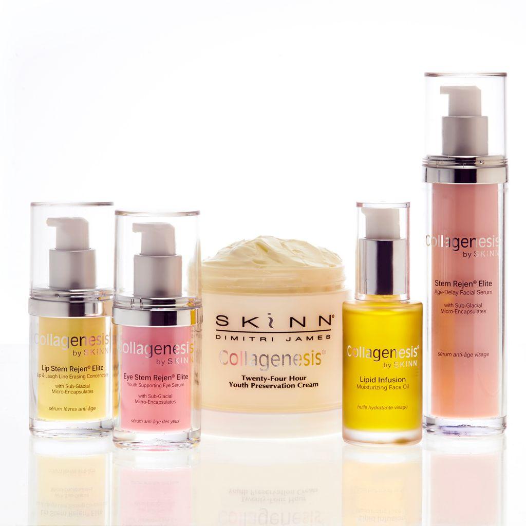 308-090 - Skinn Cosmetics Collagenesis® 5pc Stem Rejen® Elite Anti-Aging Set for Face, Lips & Eyes