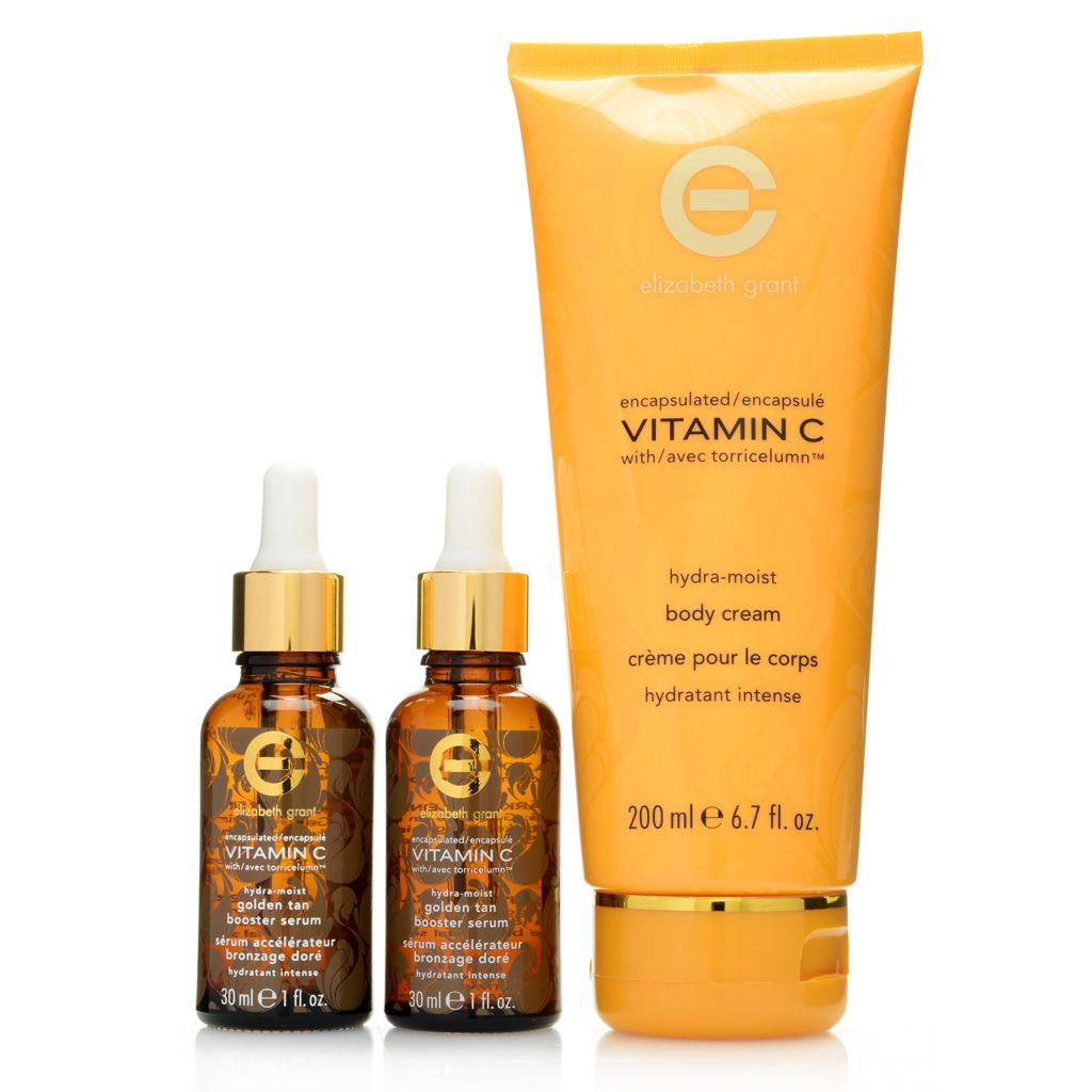 308-103 - Elizabeth Grant Vitamin C Body Cream & Golden Tan Booster Serum Trio