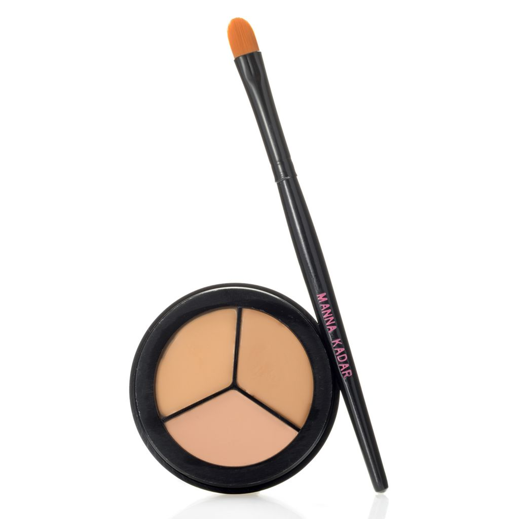 308-206 - Manna Kadar Moisture Enriched Flawless Palette Concealer Trio w/ Application Brush