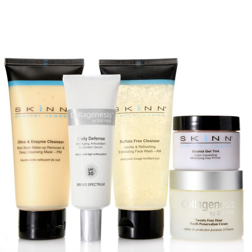 308-248 - Skinn Cosmetics Five-Piece Collagenesis Everyday Skincare Collection