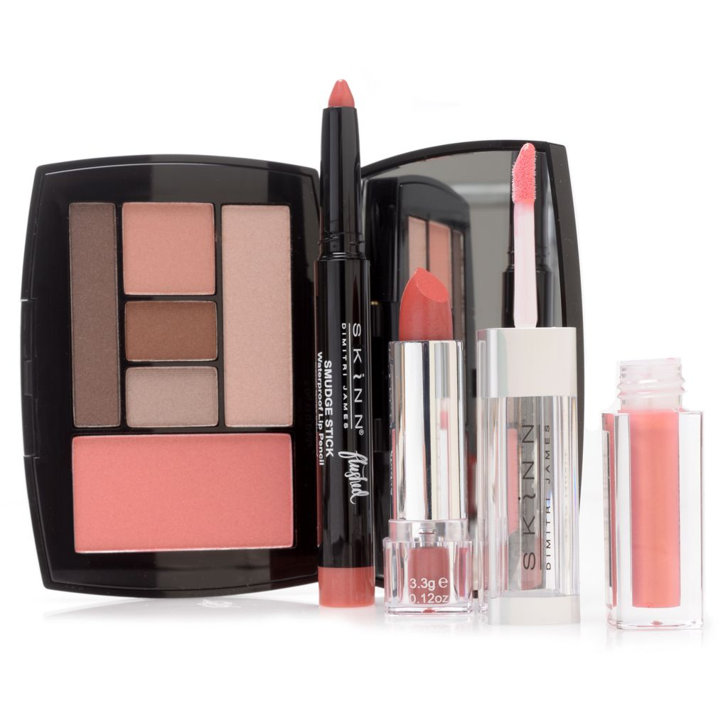 308-255 - Skinn Cosmetics Flushed Shade & Blush Collection, Twin Set Lip & Smudge Stick Trio