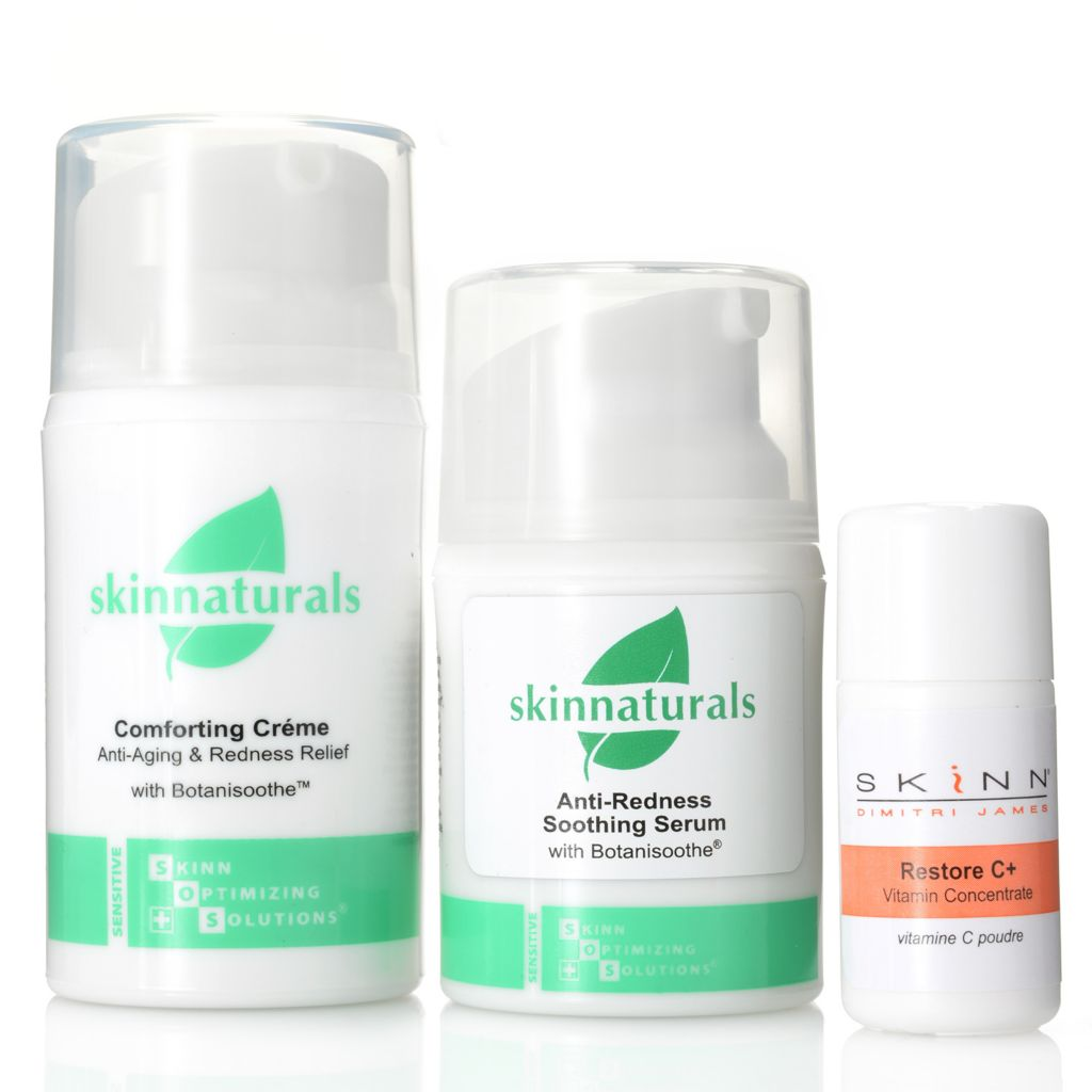 308-260 - Skinn Cosmetics Soothing Serum, Comforting Creme & Restore C+ Vitamin Concentrate Trio
