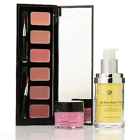 308-263 - Skinn Cosmetics Lip Stem Rejen, Insta-Fill for Lips & Hollywood Lip Palette Trio