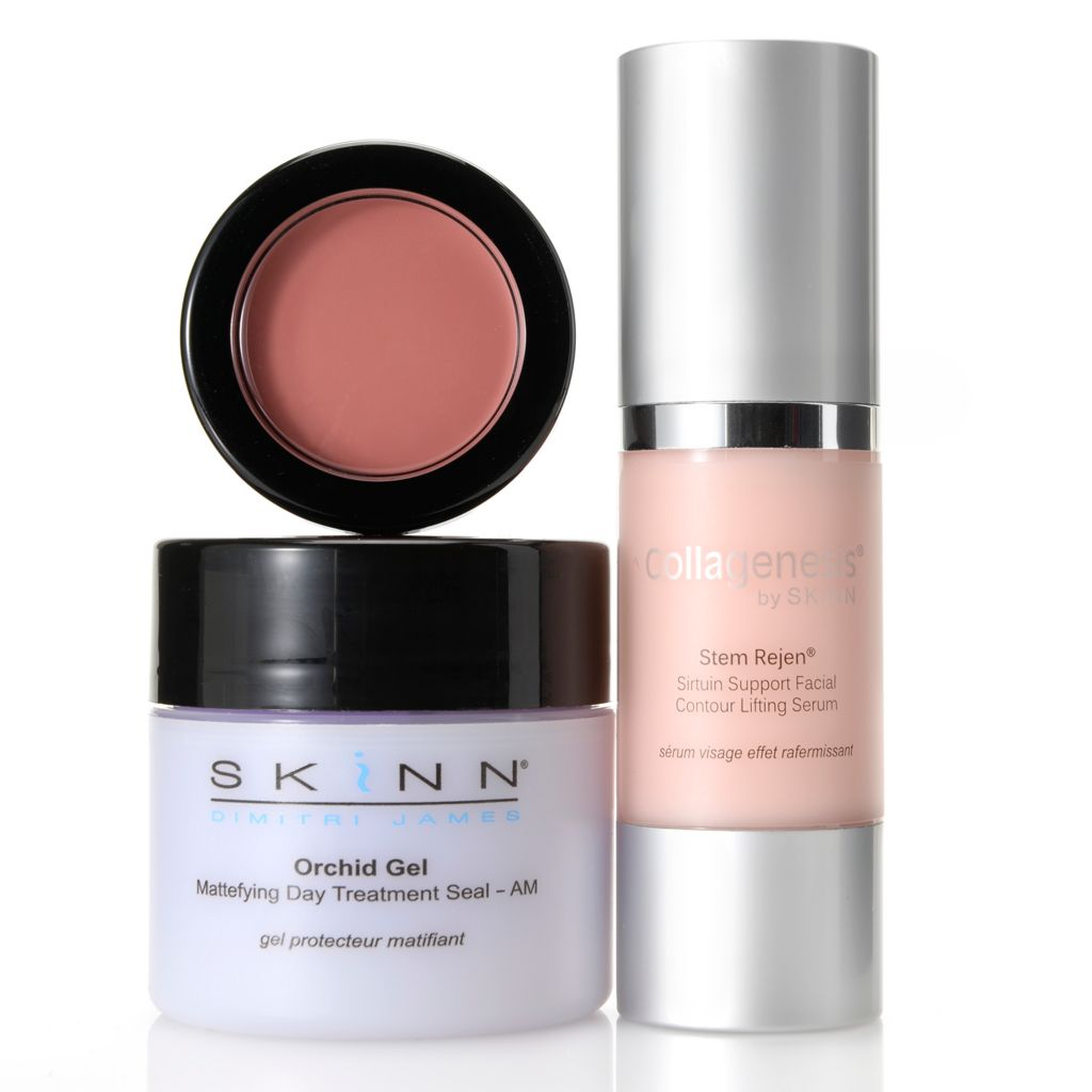 308-264 - Skinn Cosmetics Collagenesis Stem Rejen, Orchid Gel & Color Touch Trio
