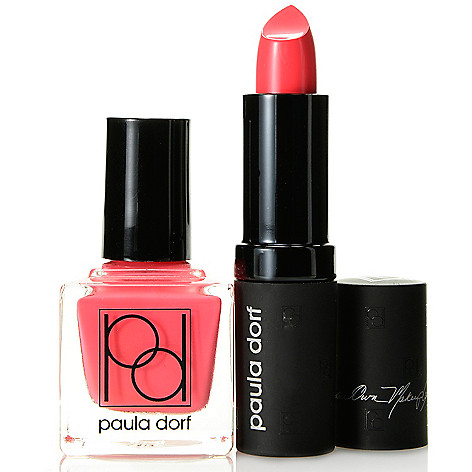 308-317 - Paula Dorf Cosmetics Two-Piece Lip Color & Nail Lacquer Set