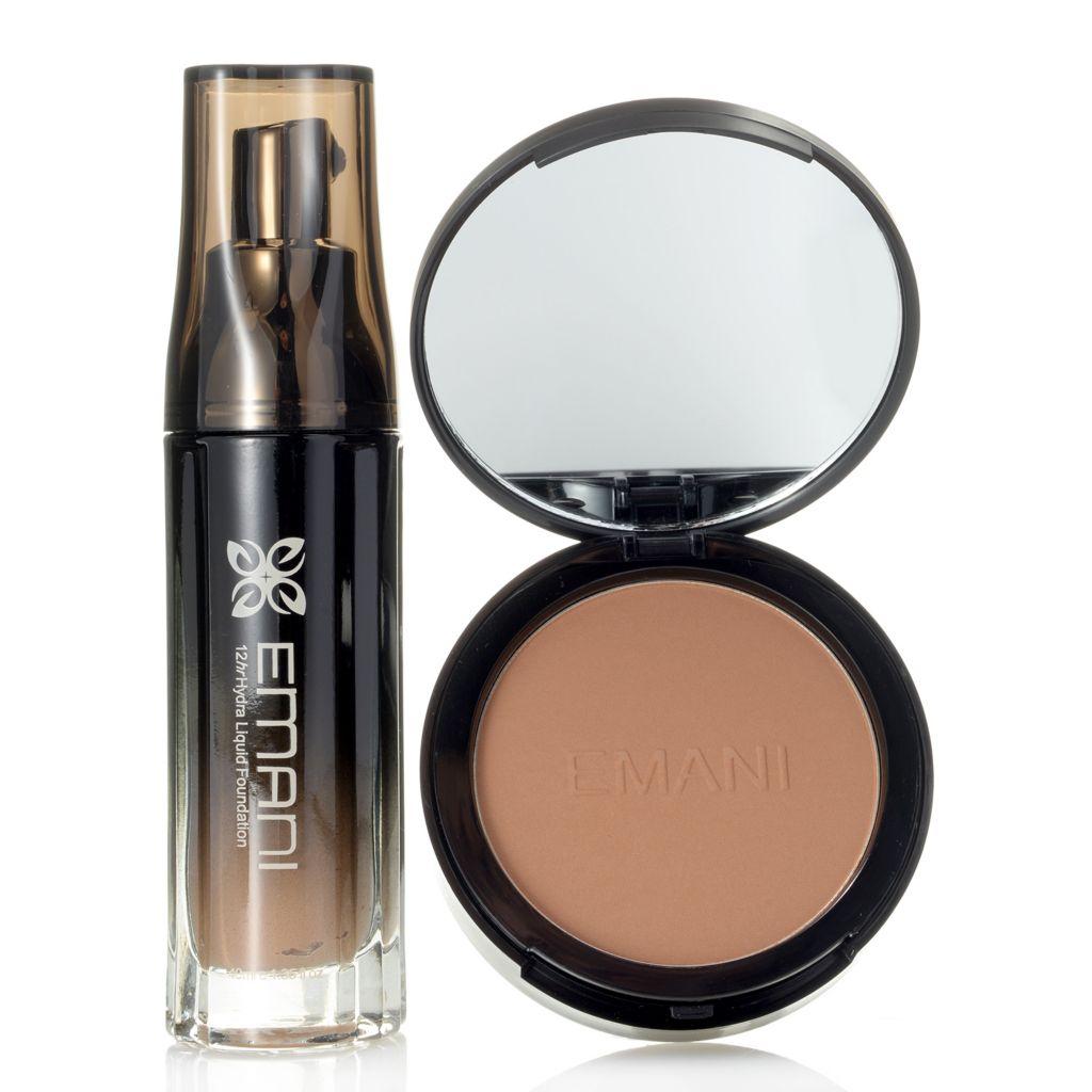 308-359 - EMANI Cosmetics Hydra Wear 12-Hour Foundation & HD Bamboo Setting Powder Duo