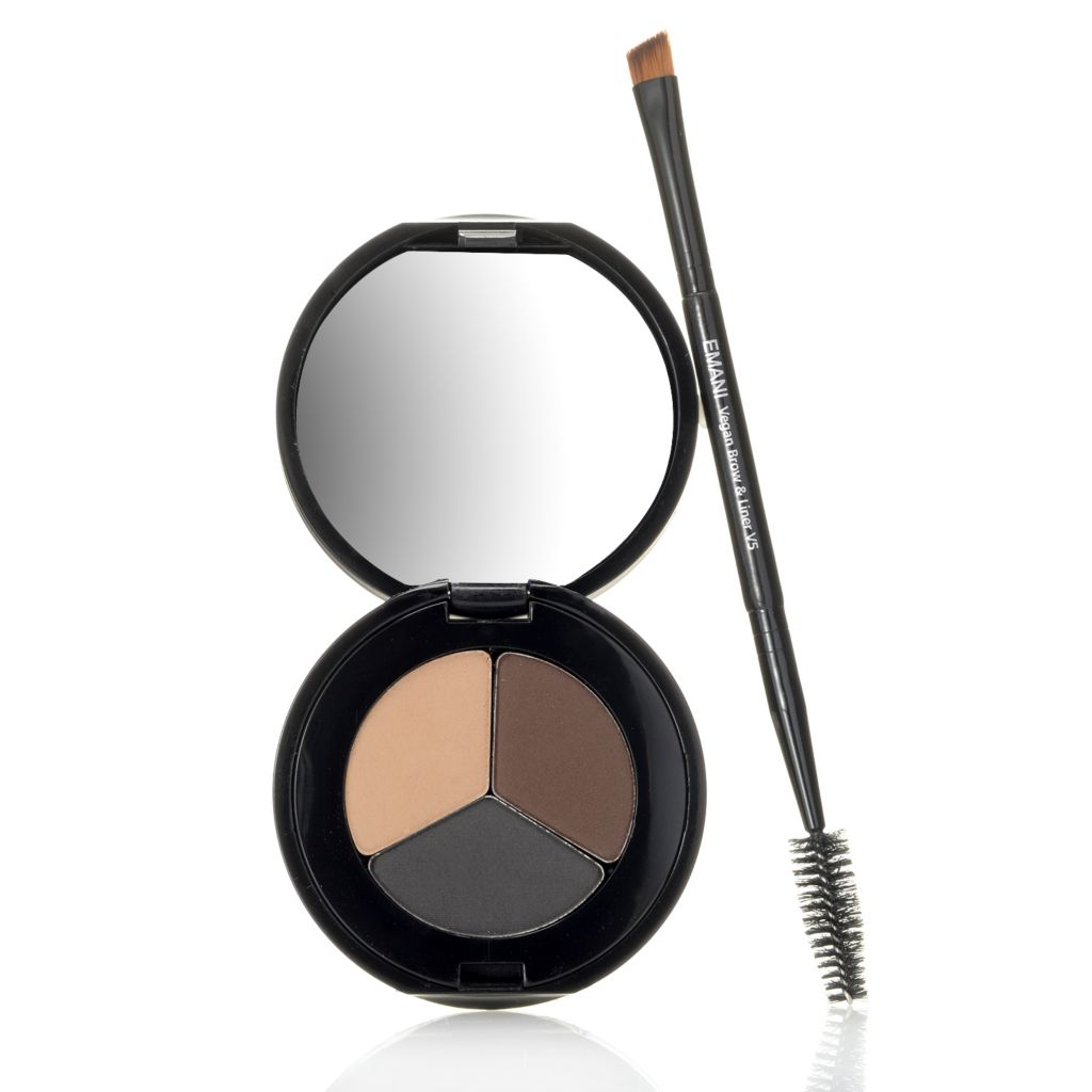 308-361 - EMANI Cosmetics Shadow, Brow & Liner Eye Trio w/ Application Brus