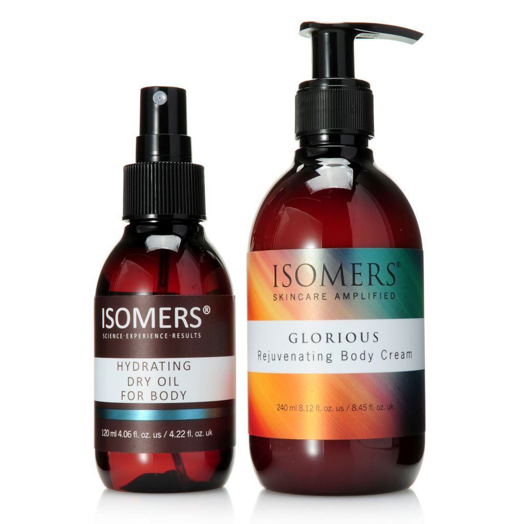 308-397 - ISOMERS® Hydrating Dry Oil & Glorious Rejuvenating Body Cream Duo for Dry & Sensitive Skin