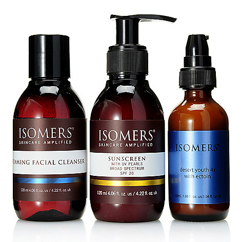 308-399 - ISOMERS® Foaming Facial Cleanser, Desert Youth Quattro & SPF 20 Sunscreen Trio