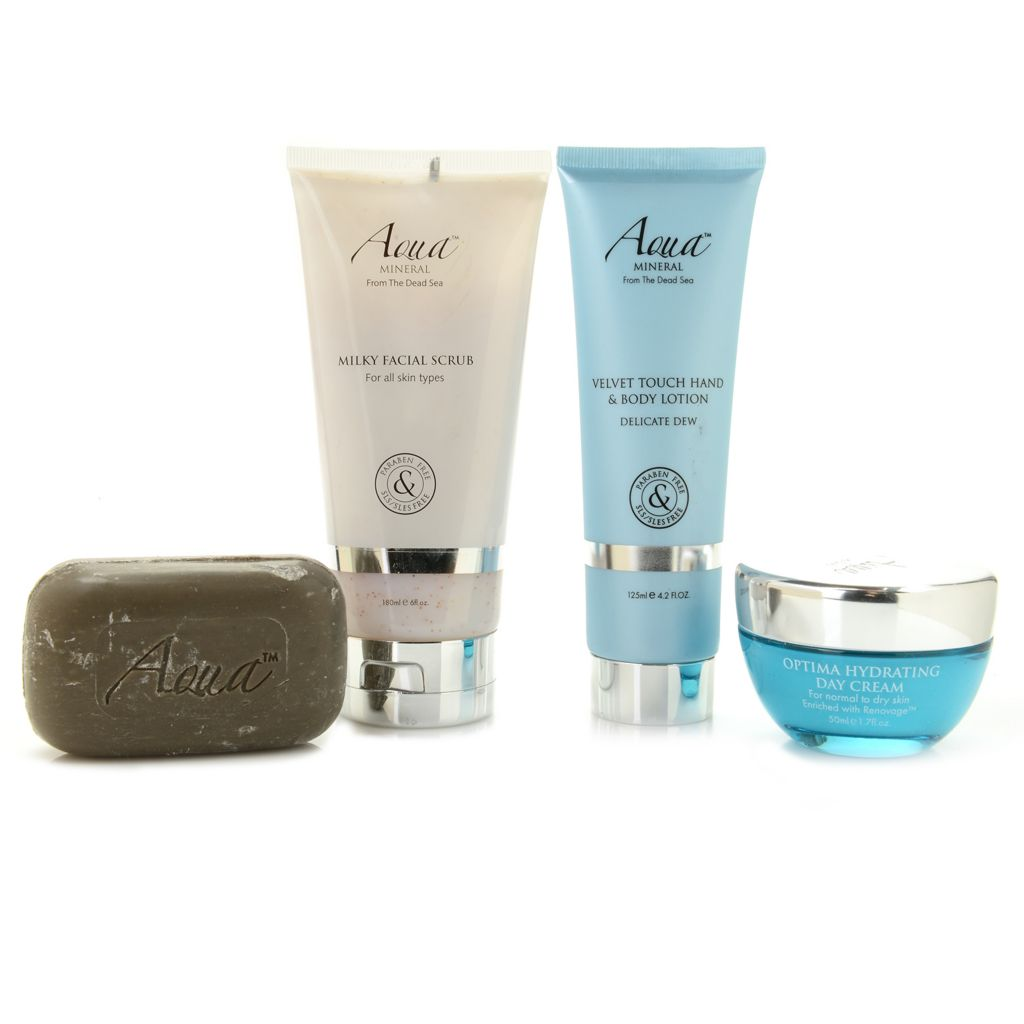 308-404 - Aqua Mineral™ Four-Piece Cleanse & Hydrate Discovery Kit for Face & Body