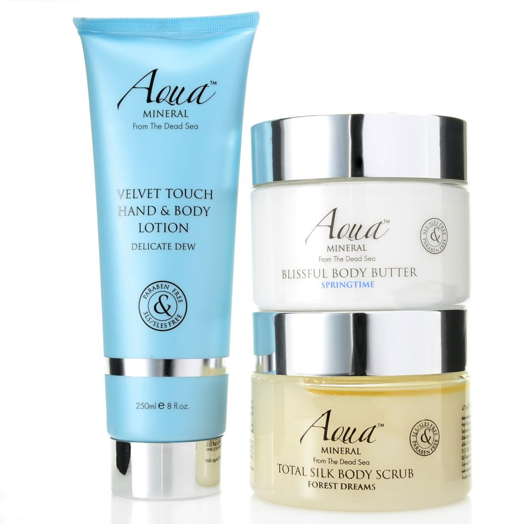 308-408 - Aqua Mineral™ Three-Piece Moisturizing & Exfoliating Total Body Collection