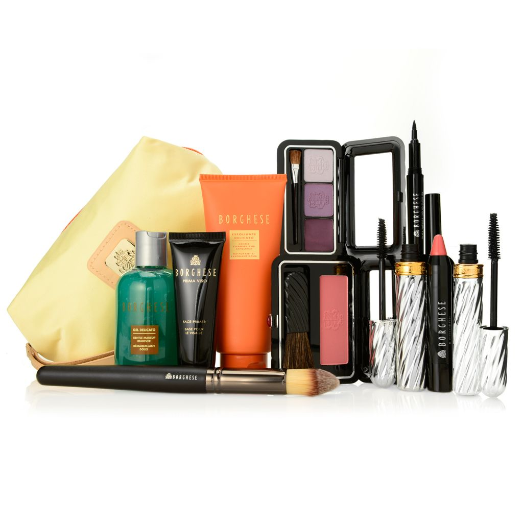 308-457 - Borghese 10-Piece Natural Radiance Color & Skincare Collection w/ Cosmetic Bag