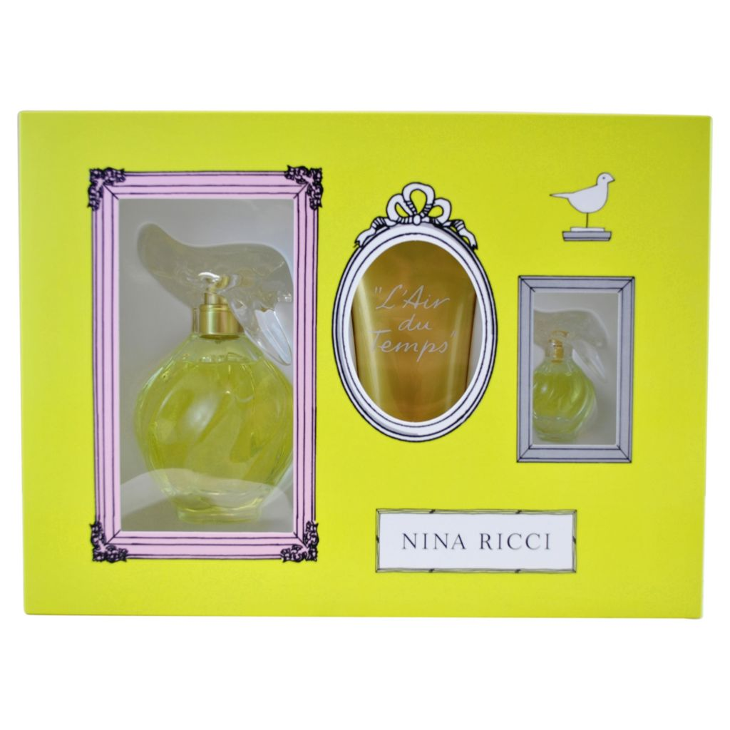 308-499 - Nina Ricci L'air du Temps Three-Piece Eau de Toilette Spray, Body Lotion & Mini Splash Set
