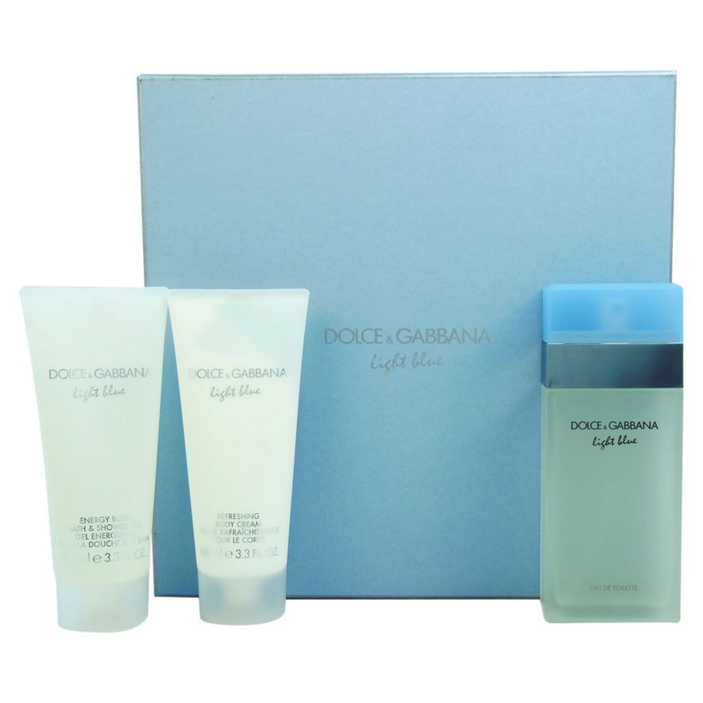 308-505 - Dolce & Gabbana Three-Piece Light Blue Gift Set for Women