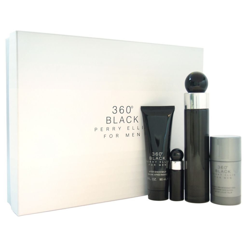 308-509 - Perry Ellis Four-Piece 360 Black Gift Set for Men