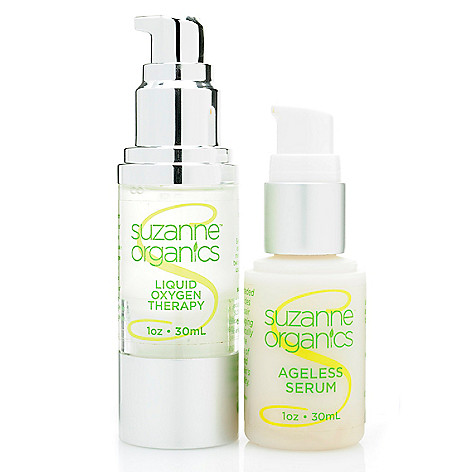 308-519 - Suzanne Somers Organics Ageless Serum & Liquid Oxygen Therapy Powerhouse Duo