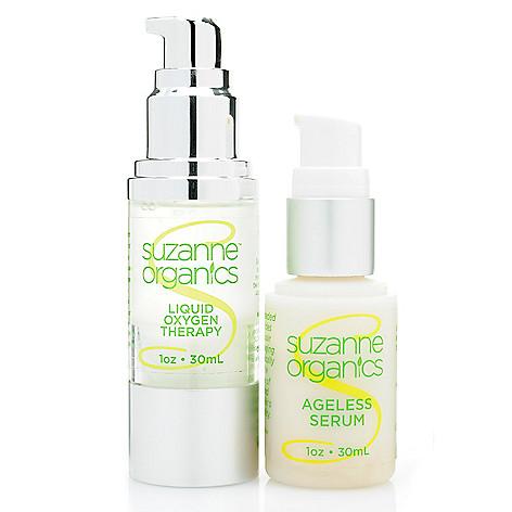 308-519 - Suzanne Somers Organics Ageless Serum & Liquid Oxygen Therapy Powerhouse Duo