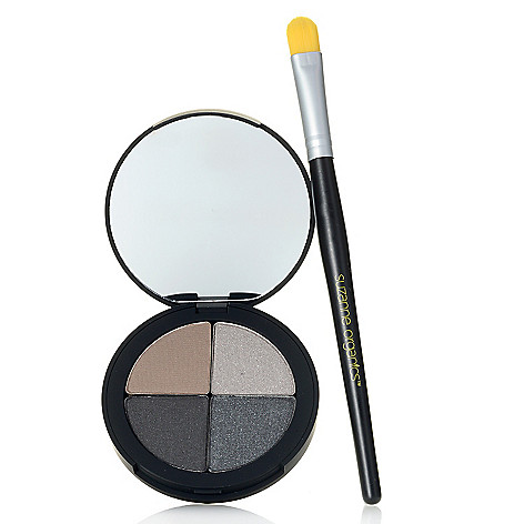 308-523 - Suzanne Somers Organics Midnight Shimmer Eye Shadow Quad w/ Brush 0.25 oz