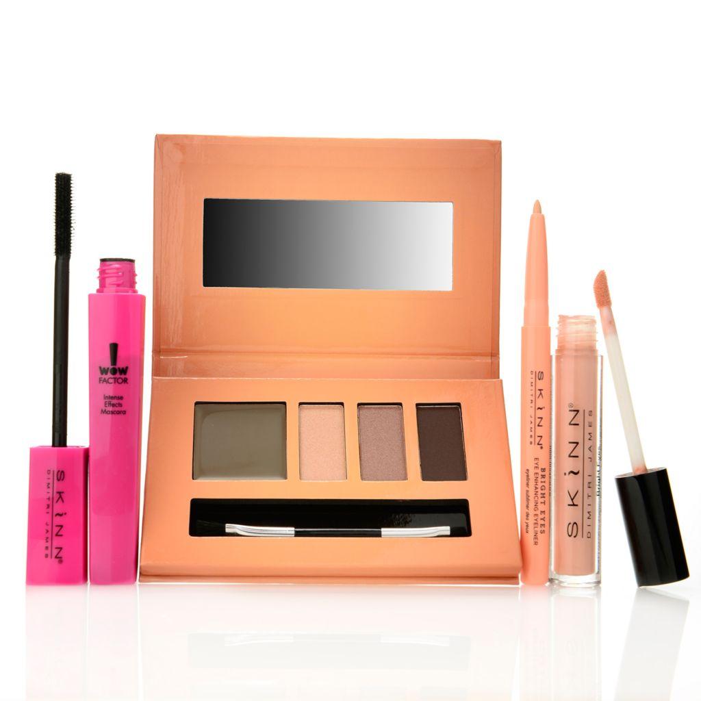 308-524 - Skinn Cosmetics Four-Piece Big Bright Eyes Mascara, Eye Color, Liner & Treatment Set