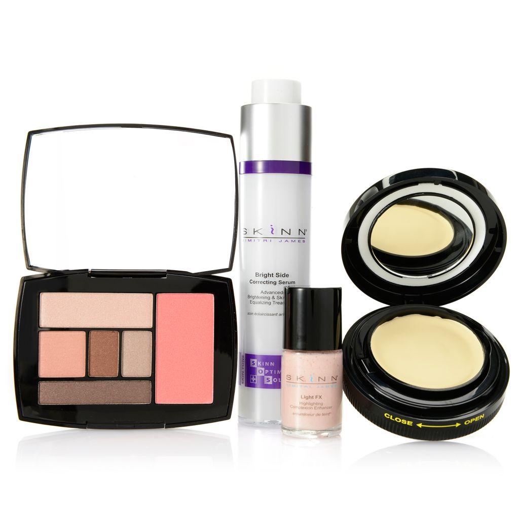 308-526 - Skinn Cosmetics Four-Piece Flushed & Luminous Skincare & Color Collection