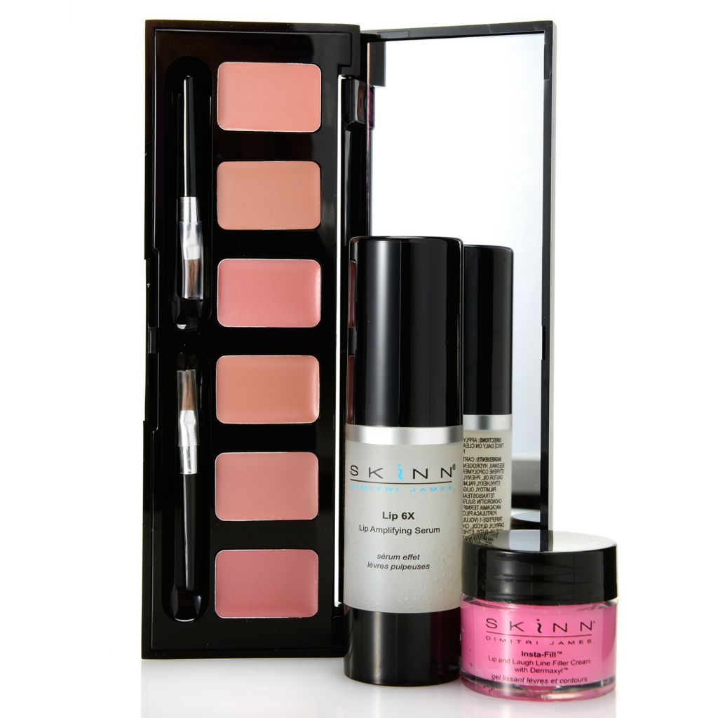308-531 - Skinn Cosmetics Lip 6X Serum, Insta-Fill for Lips & Hollywood Lip Palette Trio