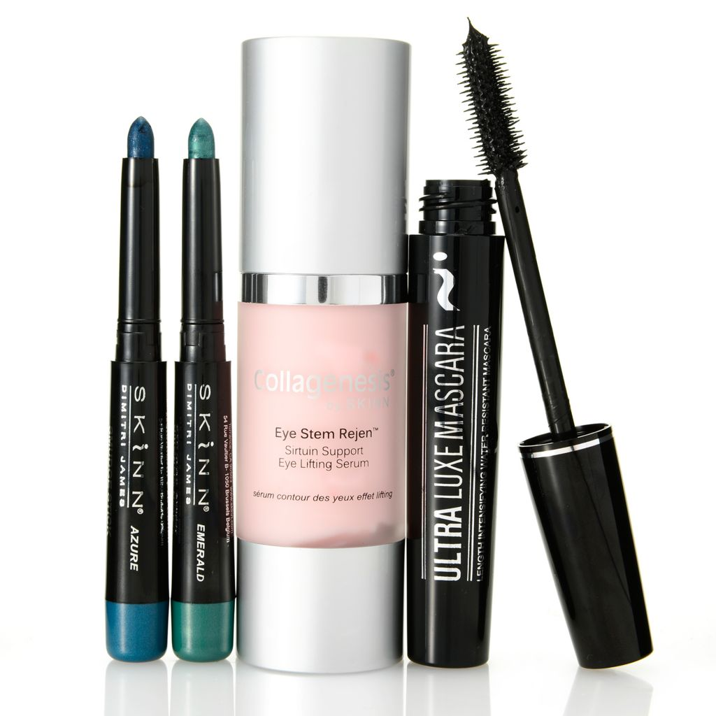 308-532 - Skinn Cosmetics Four-Piece Eye Stem Rejen, Smudge Sticks & Mascara Collection