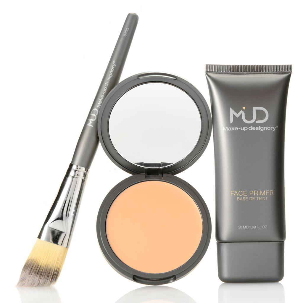 308-594 - MUD Cream Foundation & Face Primer Duo w/ Foundation Brush