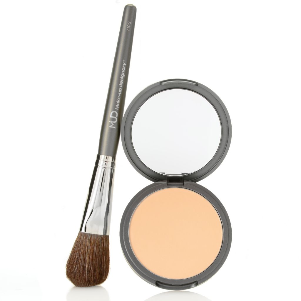 308-595 - MUD Dual Finish Pressed Mineral Powder w/ Powder Blush Brush
