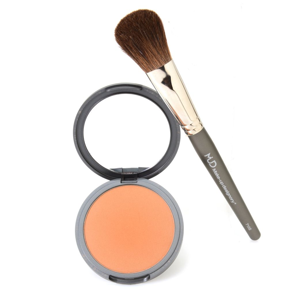 308-597 - MUD Pressed Powder Bronzer w/ Application Brush