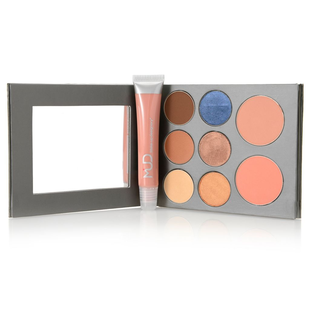 "308-598 - MUD Nine-Piece ""Northland Tale"" Color Palette Set for Eyes & Cheeks w/ Lip Glaze"
