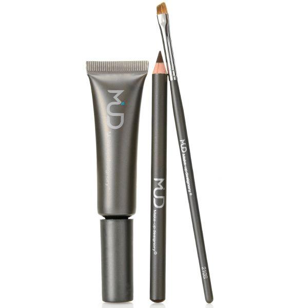 308-604 - MUD Eye Pencil & Brow Fix Duo w/ Angled Liner Brush