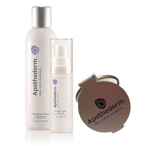 308-665 - Apothederm™ Brightening Cleanser & Acne Clarifying Treatment Duo w/ Bonus Travel Mirror
