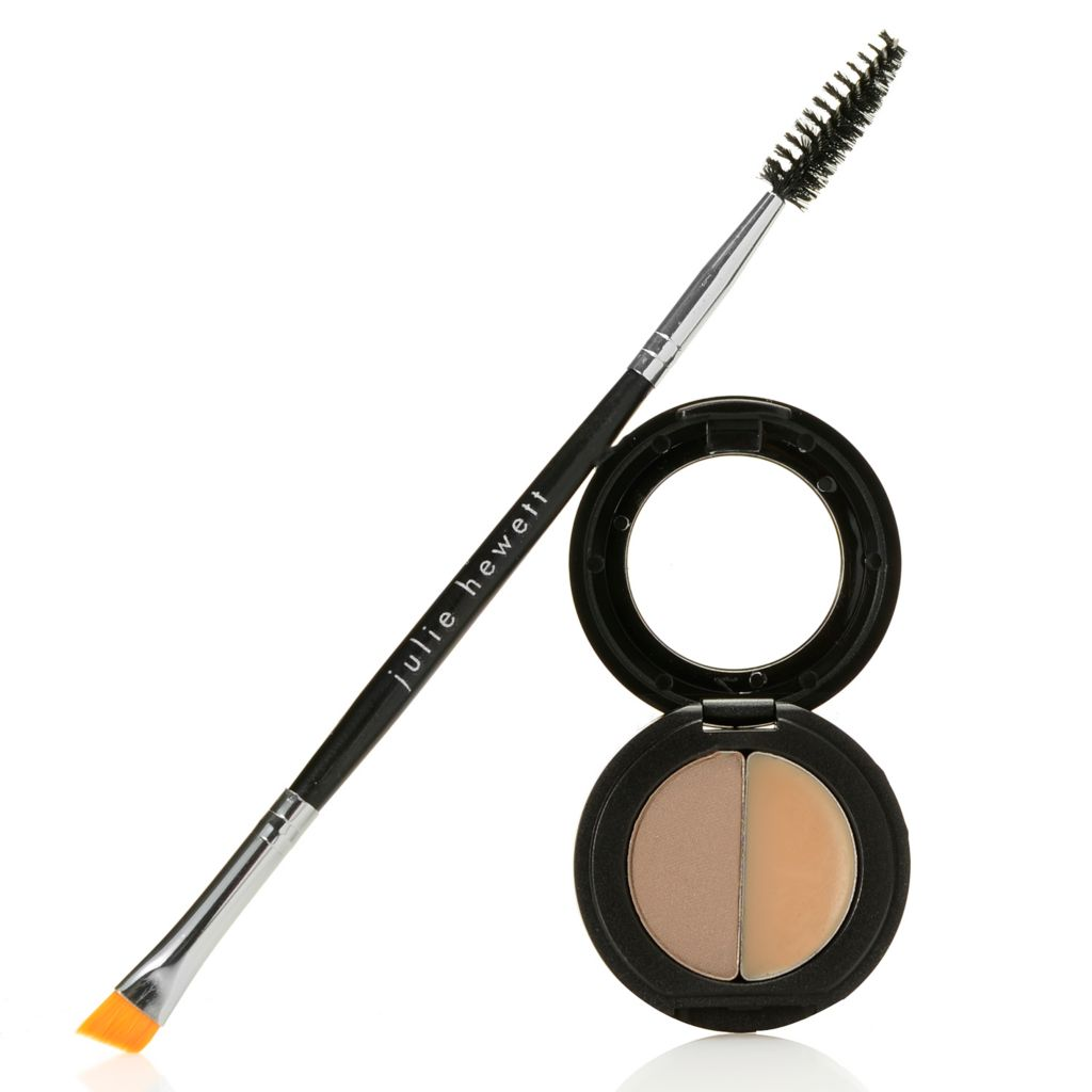 308-723 - Julie Hewett Backstage Brow Powder & Shaping Wax Compact w/ Brow Brush