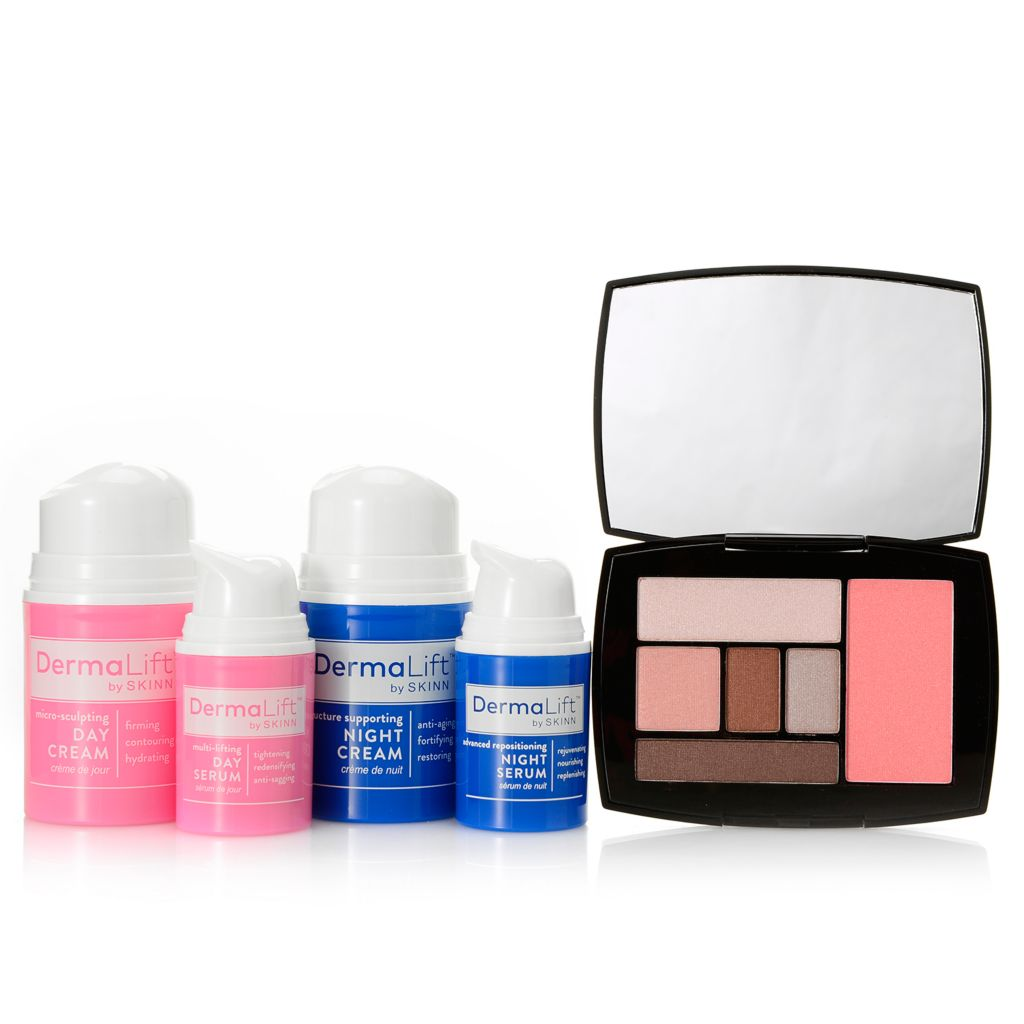 "308-923 - Skinn Cosmetics Five-Piece ""Lift Me up Completely"" Skincare & Flushed Color Palette Set"