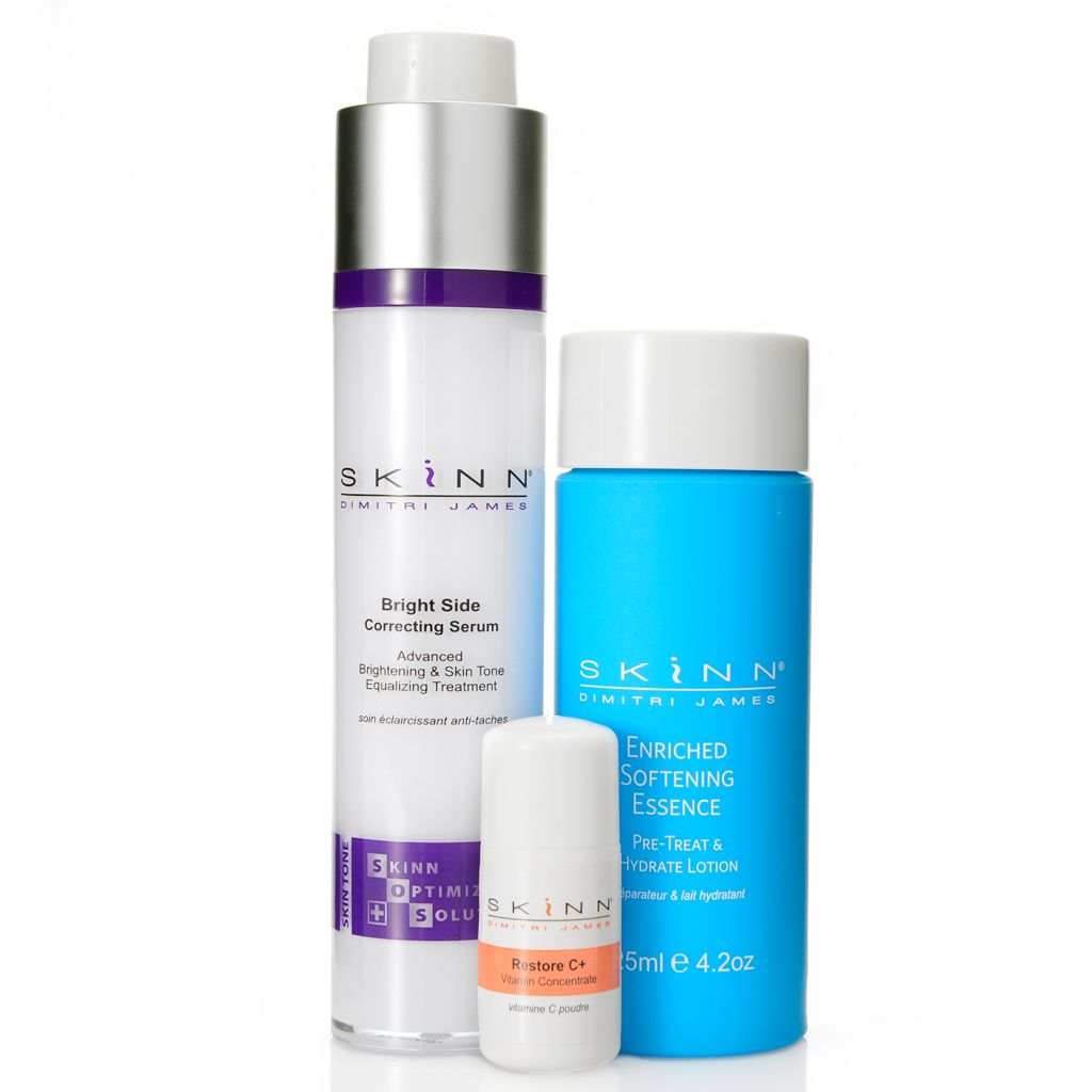 308-964 - Skinn Cosmetics Softening Essence, Bright Side Correcting Serum & Restore C+ Trio