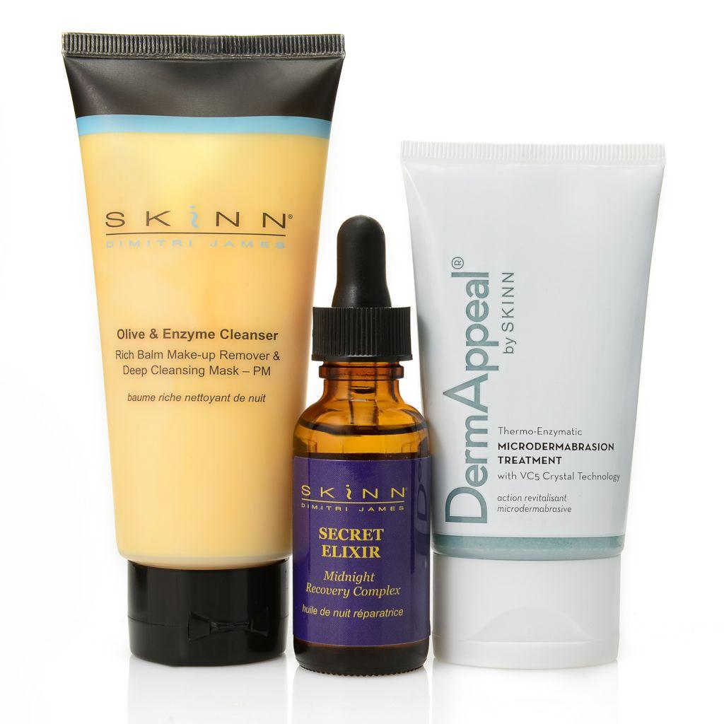 308-965 - Skinn Cosmetics Olive & Enzyme Cleanser, DermAppeal® & Secret Elixer Trio