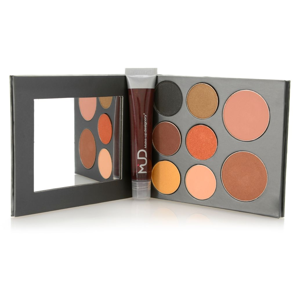 "308-967 - MUD Nine-Piece ""Fall Romance"" Eye & Cheek Color Palette w/ Lip Glaze"