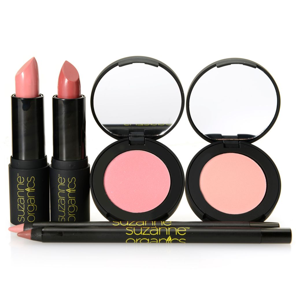 308-999 - Suzanne Somers Organics Six-Piece Lip & Cheek Color Collection