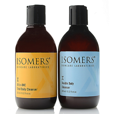 312-057- ISOMERS Skincare Double Duty & Total Daily Cleanser Duo 8.12 oz Each
