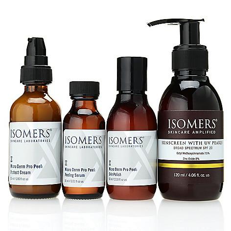 312-061- ISOMERS Skincare Four-Piece Micro Derm Pro Peel Skincare & Sunscreen Set