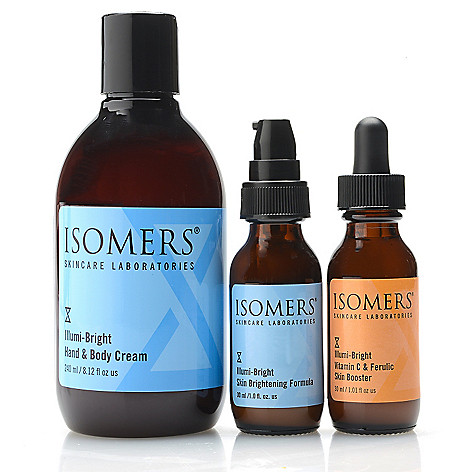 312-062- ISOMERS Skincare Illumi-Bright Trio Skincare Set for Face, Hands & Body