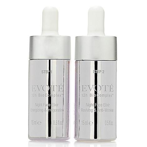 312-933- Evoté Beauty 12h BioComplex 2-Step Night Face Elixir System 0.5 oz Each