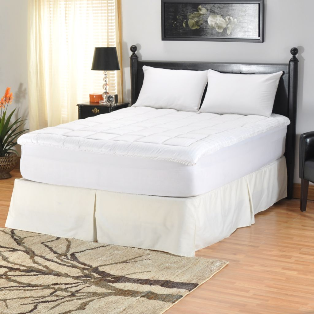 "401-239 - Cozelle® 260TC Cotton Nano-Tex® 1.5"" Gusseted Mattress Topper"