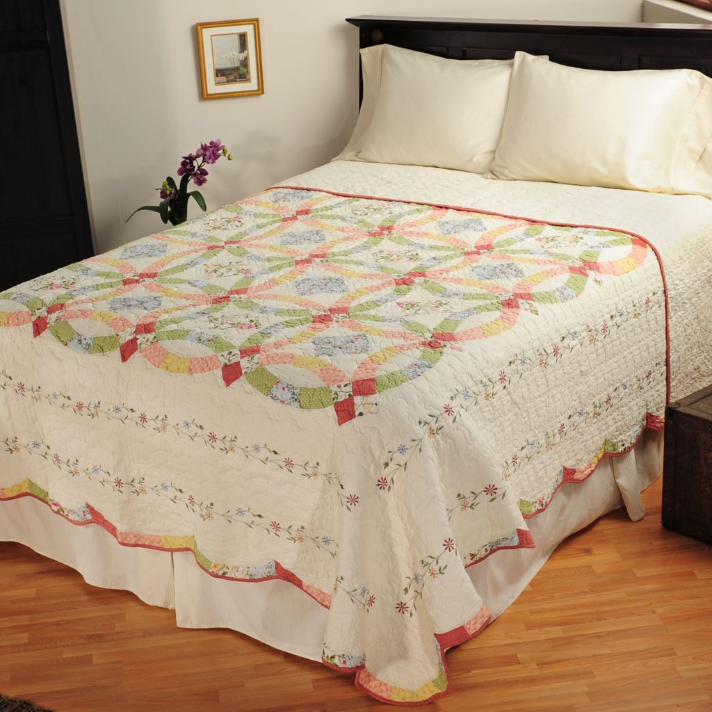 "401-595 - North Shore[ ""Victoria"" Limited Edition Wedding Ring Full Bedspread"