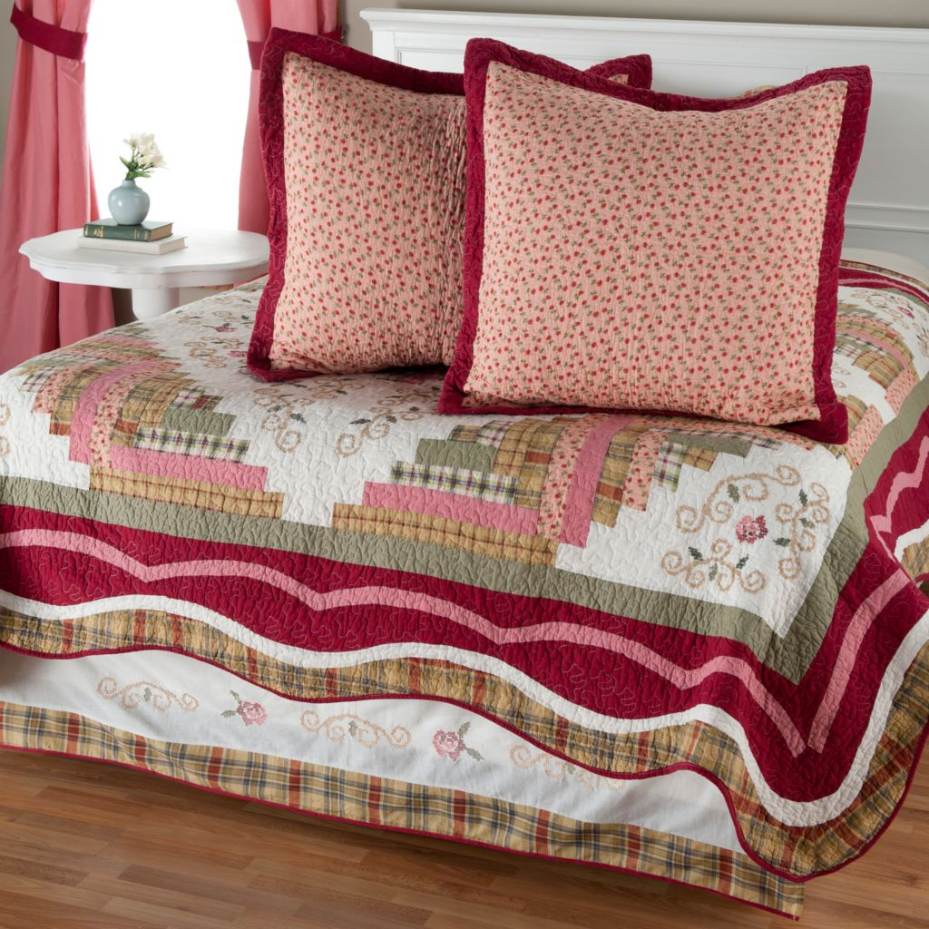 "401-793 - North Shore™ Collectible Quilts ""Millbrook"" Euro Sham Pair & Bed Skirt"