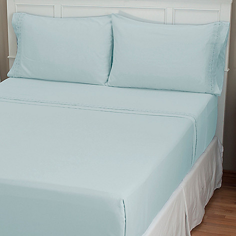 401-913 - North Shore Linens™ ''Florence'' 300TC Cotton Lace Four-Piece Sheet Set