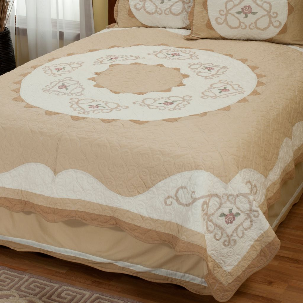 "402-018 - North Shore™ Collectible Quilts ""Heather Rose"" Limited Edition Quilt - Twin Size"