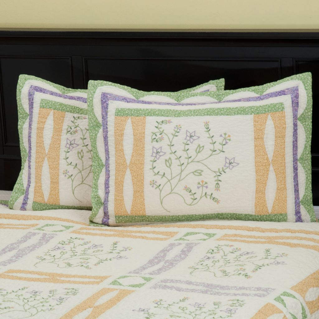 "402-083 - North Shore™ Collectible Quilts ""Jasper"" 100% Cotton Quilted Sham Pair"